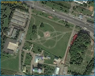 Карта расположения парка.